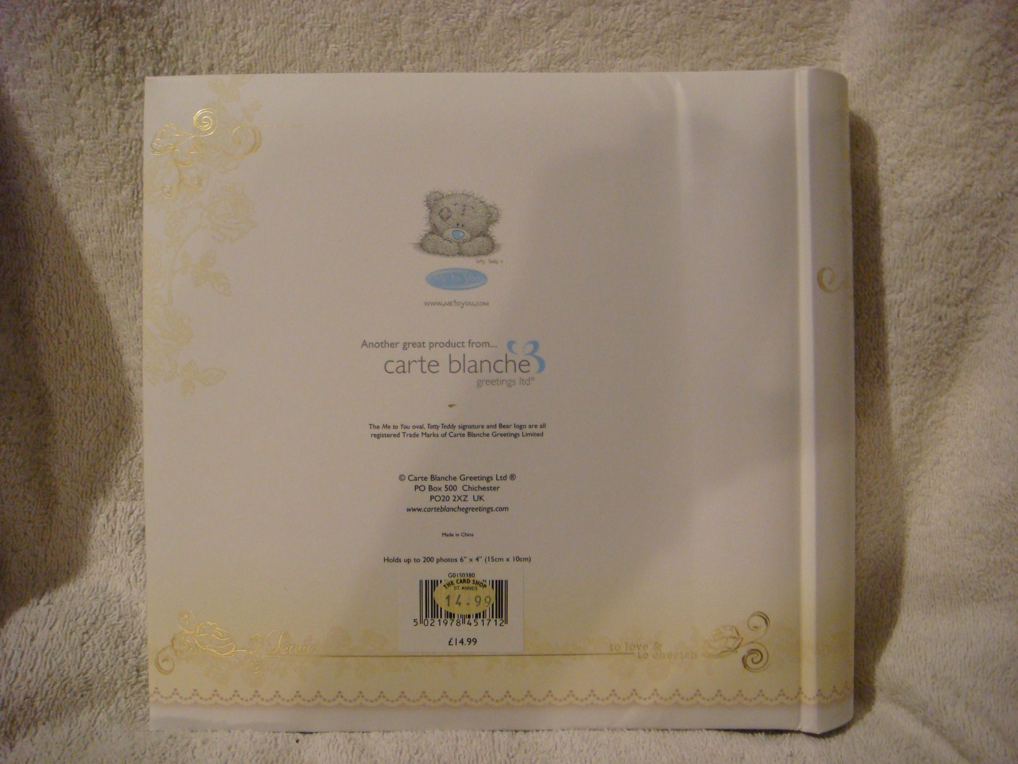 Me To You Wedding Gifts: Me To You Tatty Teddy ..wedding Album In Cream And Gold